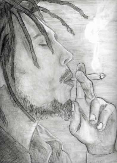 Starsportraits retratos de bob marley por nikotin - Dessin de rasta ...